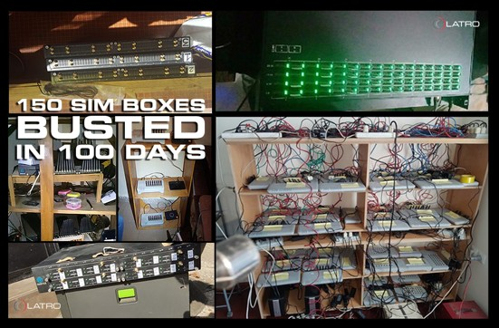 150 SIM Boxes Busted in 100 Days